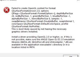 Ошибка OpenGL