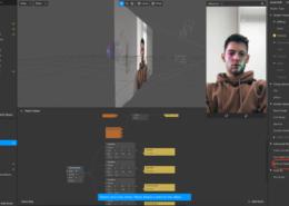 Пропадает область Face mash с маской, когда объект заходит за rectangle с цвет. фильтром.