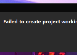failed to create project working directory