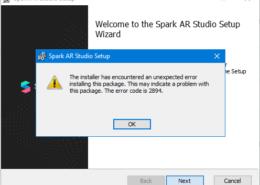 Не могу установить Spark AR ошибка под №2894