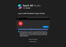 Выдаёт ошибку при входе в Spark AR