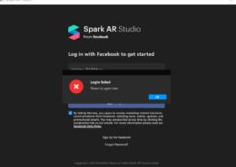 После прохождения двухфакторной аутентификации, не могу войти в программу SparkAR.