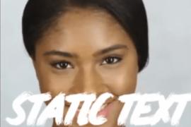 Как добавить статический текст в маску Instagram