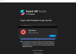 Не могу войти в Spark AR Studio, что делать?