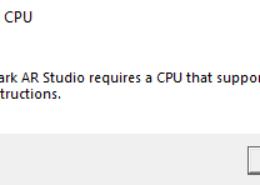 Ошибка при установке Spark AR Studio