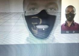 Как создать медическую маску без отверстия для рта. Открываю рот и маска получается с дыркой