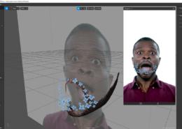 можно ли привязать 3d объект к faceMesh, что бы он повторял мимику лица?