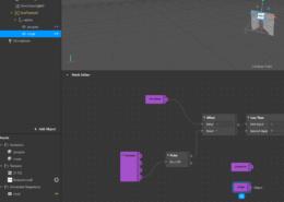 объект plan на patch editor отображается фиолетовым — с выходом, а не желтым — входом