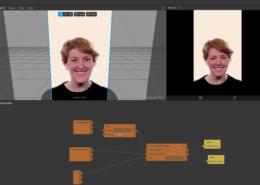 В маске с размытием, фильтр применяется только на лицо, а не на весь экран